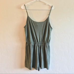 Divided Olive Green Lightweight Knit Romper Large